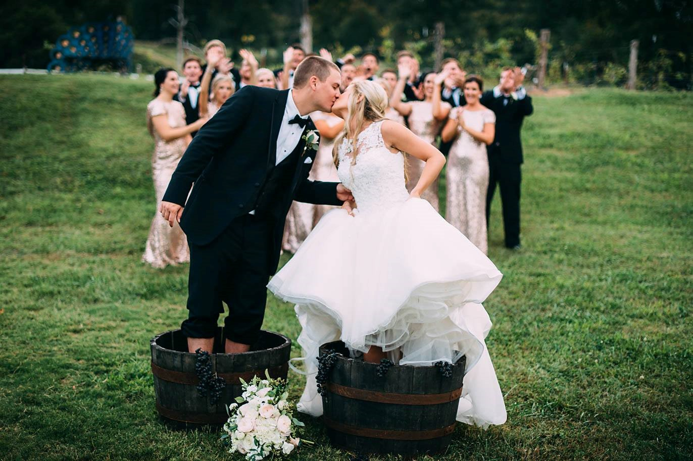 beautiful weddings at sassafras springs vineyard